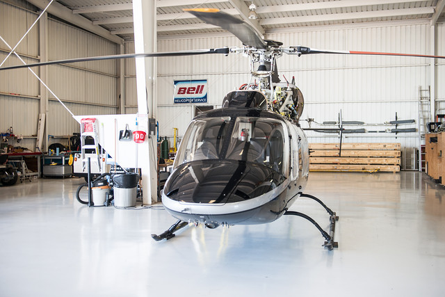 Bell Helicopter in Hangar